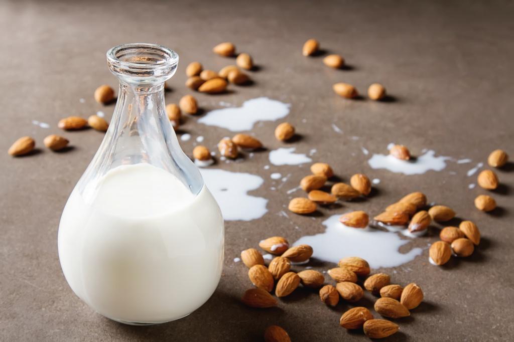 Диета при экземе, миндальное молоко
